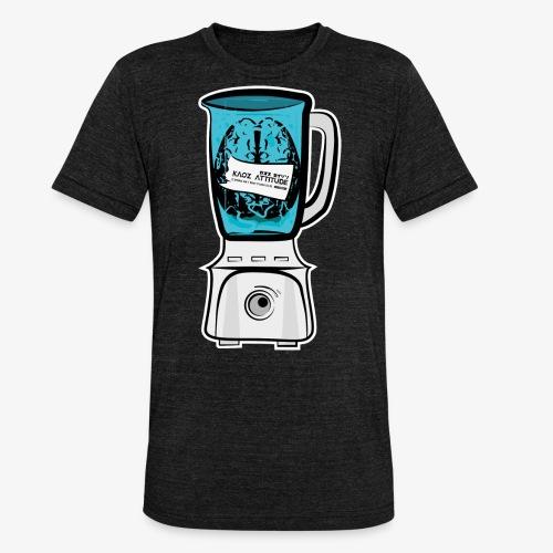 Hirn im Mixer - neon blau - Unisex Tri-Blend T-Shirt von Bella + Canvas