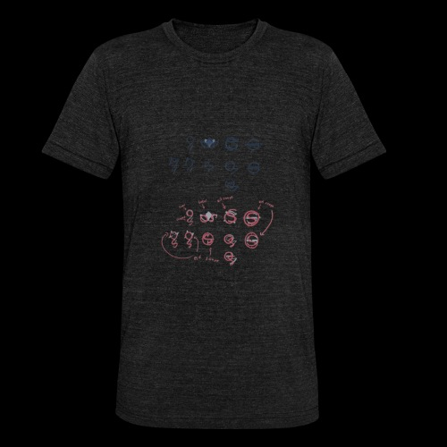 Overscoped concept logos - Unisex Tri-Blend T-Shirt by Bella & Canvas