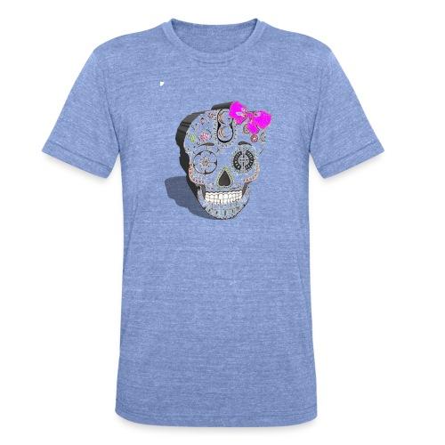 Tête de mort mexicaine 3D - T-shirt chiné Bella + Canvas Unisexe