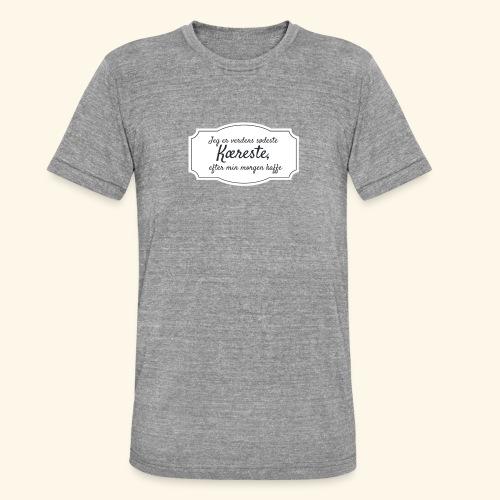Verdens sødeste kæreste - Unisex tri-blend T-shirt fra Bella + Canvas