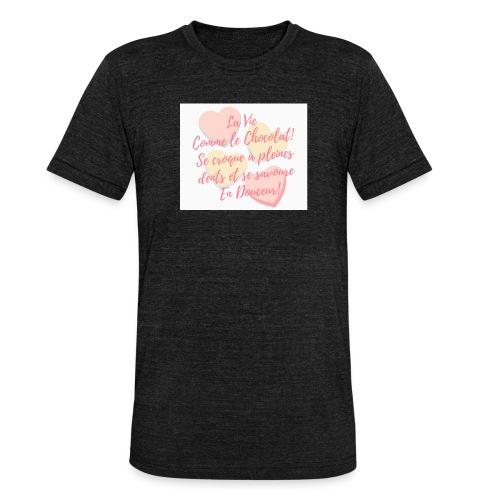 Croque la Vie! - T-shirt chiné Bella + Canvas Unisexe