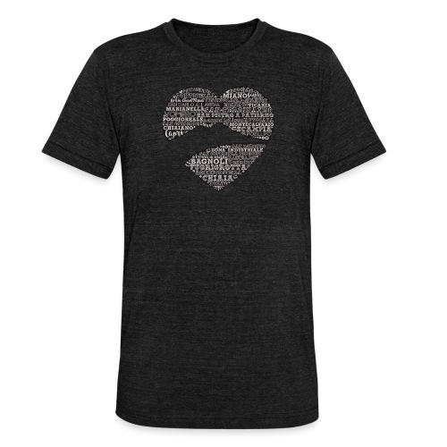 cuordinapoli black - Maglietta unisex tri-blend di Bella + Canvas