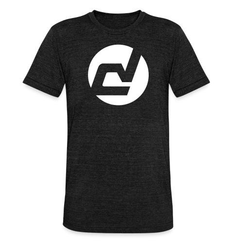 logo blanc - T-shirt chiné Bella + Canvas Unisexe