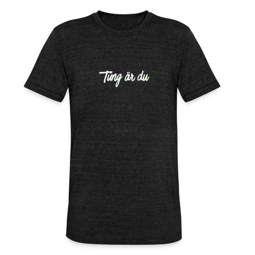 tung--ru - Triblend-T-shirt unisex från Bella + Canvas