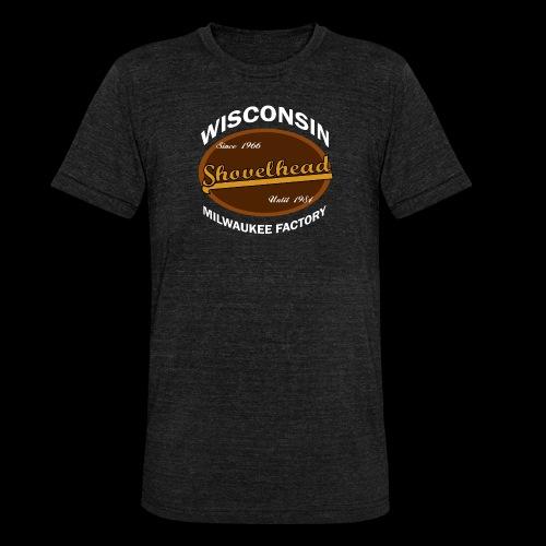 Milwaukee Shovelhead - Unisex Tri-Blend T-Shirt von Bella + Canvas