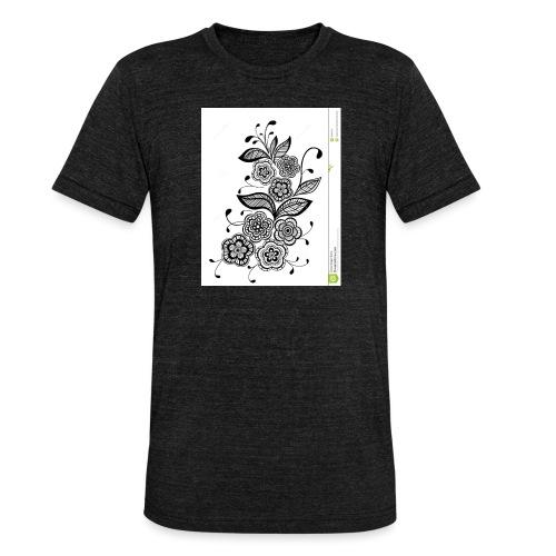 diseño de flores - Camiseta Tri-Blend unisex de Bella + Canvas