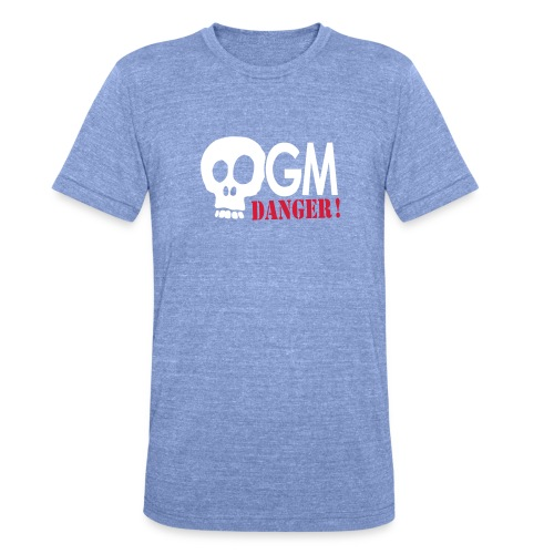 OGM danger ! - T-shirt chiné Bella + Canvas Unisexe