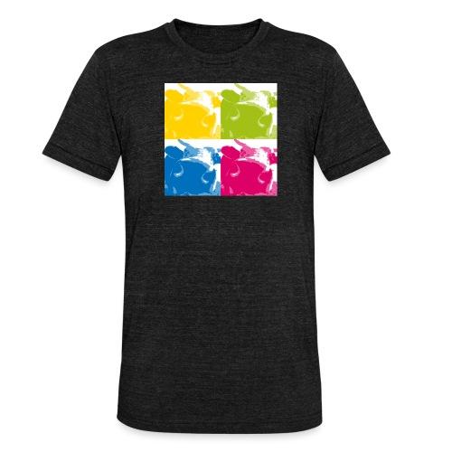 4 Kühe - Unisex Tri-Blend T-Shirt von Bella + Canvas