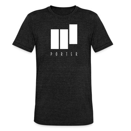 PORTER Sign White - Unisex Tri-Blend T-Shirt von Bella + Canvas
