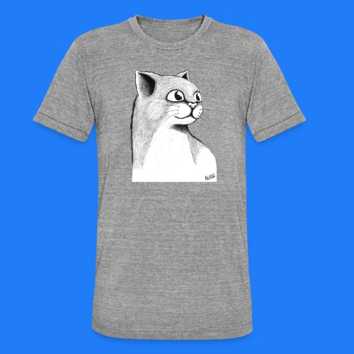 CAT HEAD by AGILL - T-shirt chiné Bella + Canvas Unisexe