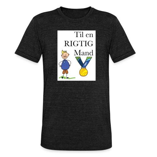 En rigtig mand - Unisex tri-blend T-shirt fra Bella + Canvas