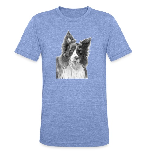 border collie 3 - Unisex tri-blend T-shirt fra Bella + Canvas