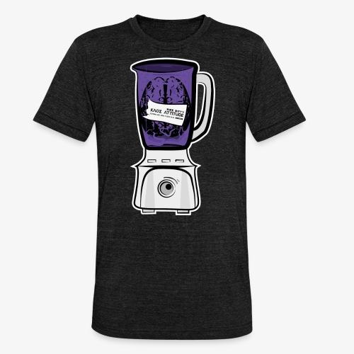 Hirn im Mixer_ lila - Unisex Tri-Blend T-Shirt von Bella + Canvas