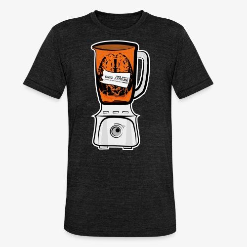 Hirn in Mixer neon orange - Unisex Tri-Blend T-Shirt von Bella + Canvas