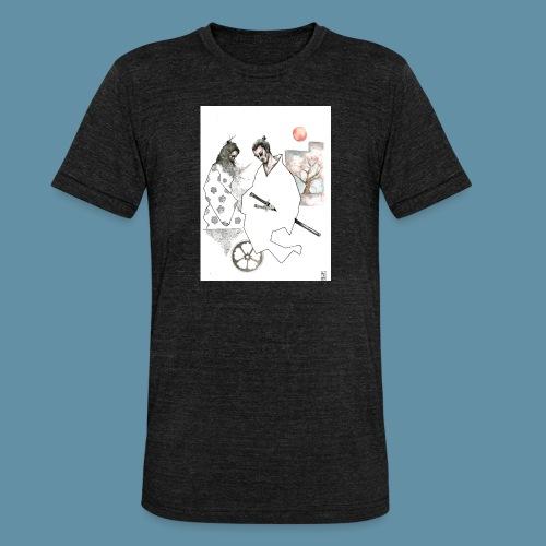 Samurai copia jpg - Maglietta unisex tri-blend di Bella + Canvas