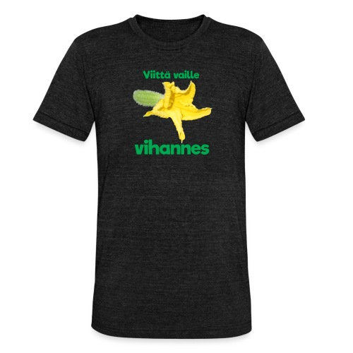 Viittä vaille vihannes, avomaankurkku - Bella + Canvasin unisex Tri-Blend t-paita.