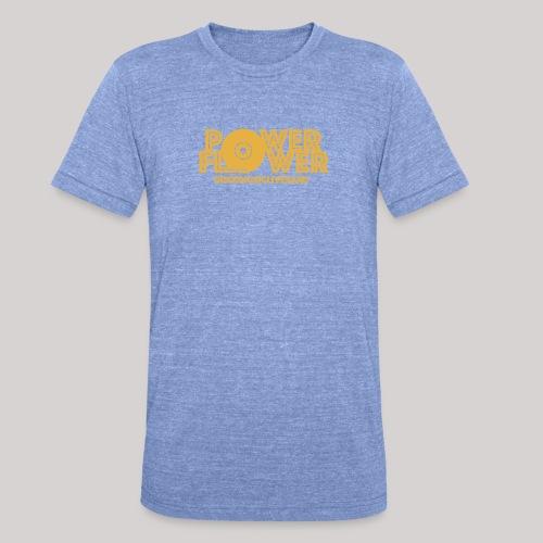 logo def PF 1colore giallo - Maglietta unisex tri-blend di Bella + Canvas