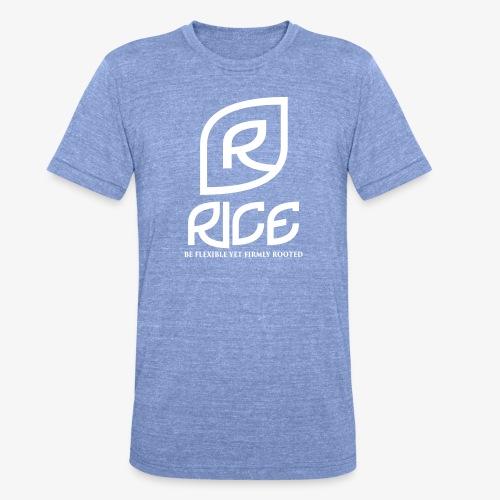 rice vector - Unisex tri-blend T-shirt van Bella + Canvas