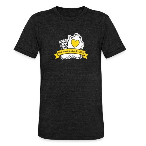 Herzle BW - Unisex Tri-Blend T-Shirt von Bella + Canvas