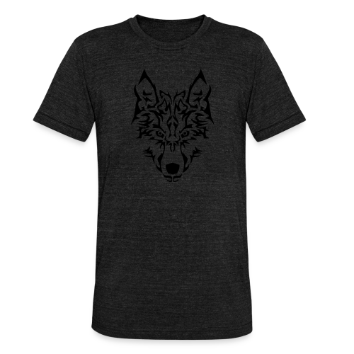 Tribal Wolf - T-shirt chiné Bella + Canvas Unisexe