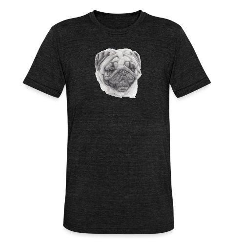 Pug mops 2 - Unisex tri-blend T-shirt fra Bella + Canvas