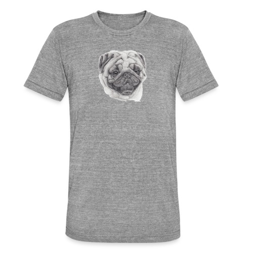 Pug mops 2 - Unisex tri-blend T-shirt fra Bella + Canvas