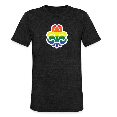 Regnbuespejder jakker og t-shirts mv - Unisex tri-blend T-shirt fra Bella + Canvas