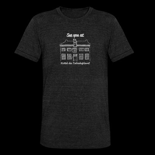 See you at Hotel de Tabaksplant WIT - Unisex tri-blend T-shirt van Bella + Canvas