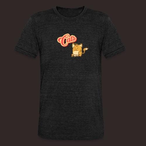 Katze | Katzen süß Schriftzug - Unisex Tri-Blend T-Shirt von Bella + Canvas