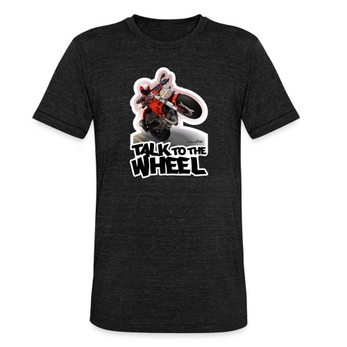 Ducati Monster Wheelie B - Camiseta Tri-Blend unisex de Bella + Canvas