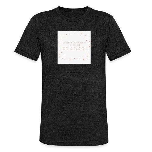Suivre sa lumière - T-shirt chiné Bella + Canvas Unisexe