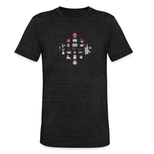 lo mejor de los 90 - Camiseta Tri-Blend unisex de Bella + Canvas