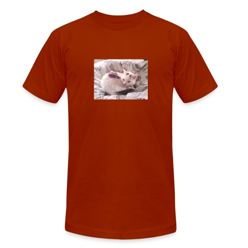 CAT SURROUNDED BY MICE AND BUTTERFLIES. - Unisex Tri-Blend T-Shirt by Bella + Canvas