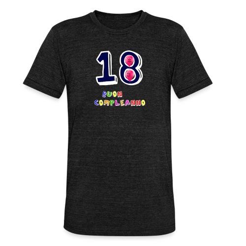 18 BUON compleanno - Maglietta unisex tri-blend di Bella + Canvas