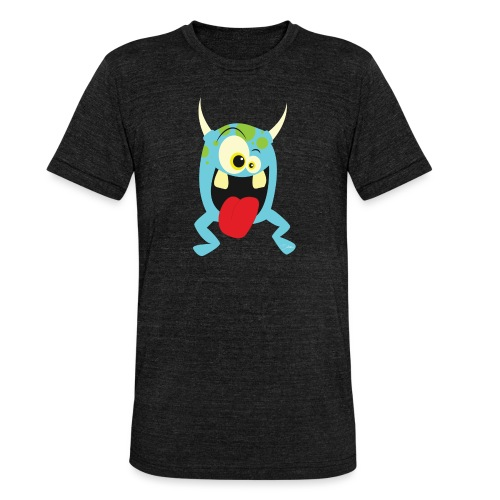 Monster blue - Unisex tri-blend T-shirt van Bella + Canvas