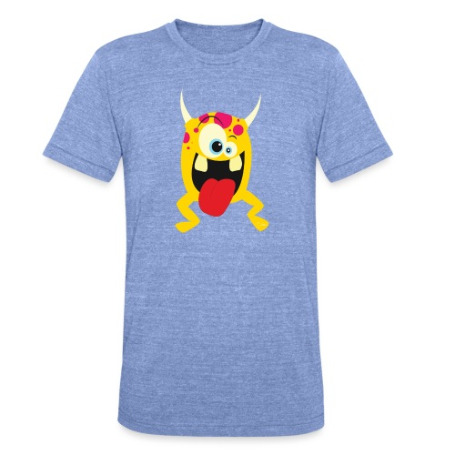 Monster Yellow - Unisex tri-blend T-shirt van Bella + Canvas