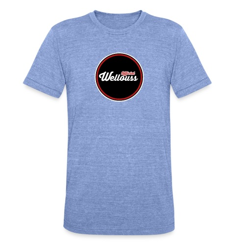 Wellouss Fan T-shirt | Rood - Unisex tri-blend T-shirt van Bella + Canvas
