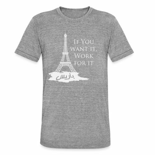 Paris dream work - T-shirt chiné Bella + Canvas Unisexe
