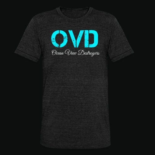 ovd blue text - Unisex Tri-Blend T-Shirt by Bella & Canvas