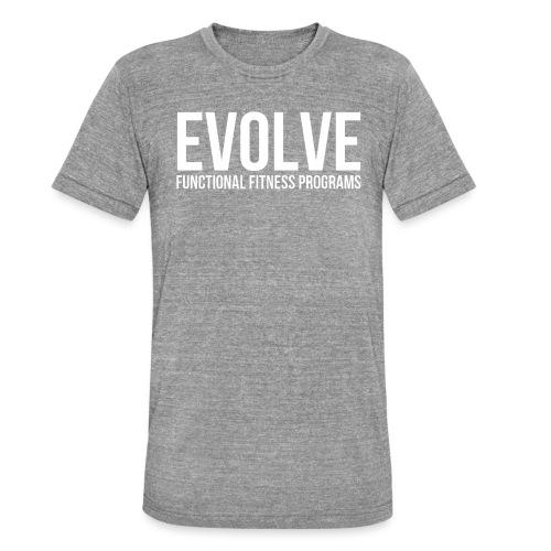 evolve white - Triblend-T-shirt unisex från Bella + Canvas