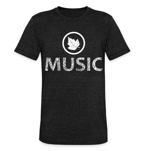 logo bashk music e bardhe - Unisex Tri-Blend T-Shirt by Bella & Canvas