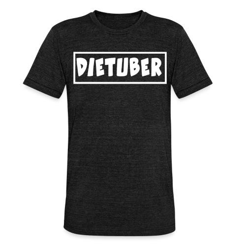 DieTuber Logo weiss - Unisex Tri-Blend T-Shirt von Bella + Canvas