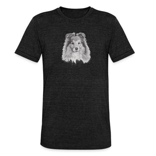 shetland sheepdog sheltie - Unisex tri-blend T-shirt fra Bella + Canvas