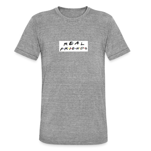 Real freinds - Unisex tri-blend T-shirt fra Bella + Canvas