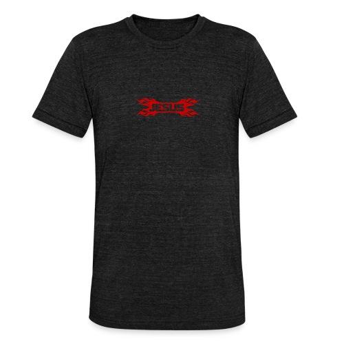 Flaming Jesus Logo 01 - Unisex Tri-Blend T-Shirt by Bella & Canvas