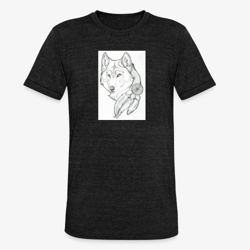 wolf - Unisex tri-blend T-shirt van Bella + Canvas