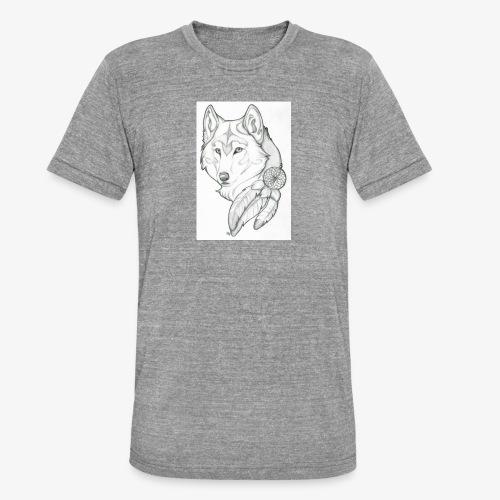 wolf - Unisex tri-blend T-shirt van Bella + Canvas