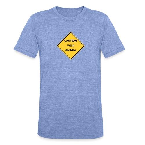 Caution Wild Animal - T-shirt chiné Bella + Canvas Unisexe
