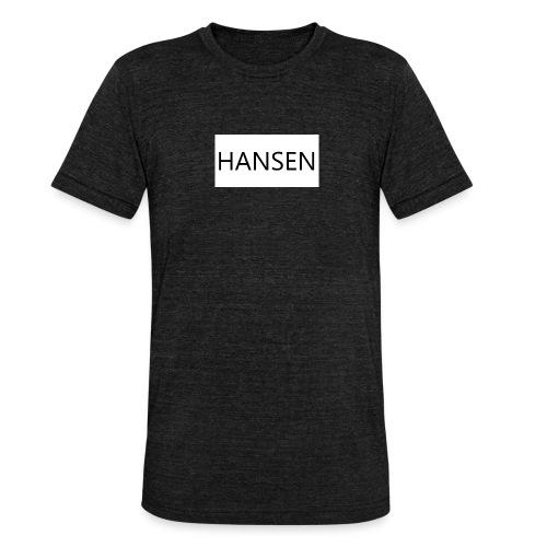 HANSENLOGO hvid - Unisex tri-blend T-shirt fra Bella + Canvas