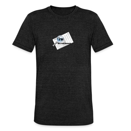 The scrutineer logo - Unisex Tri-Blend T-Shirt by Bella & Canvas